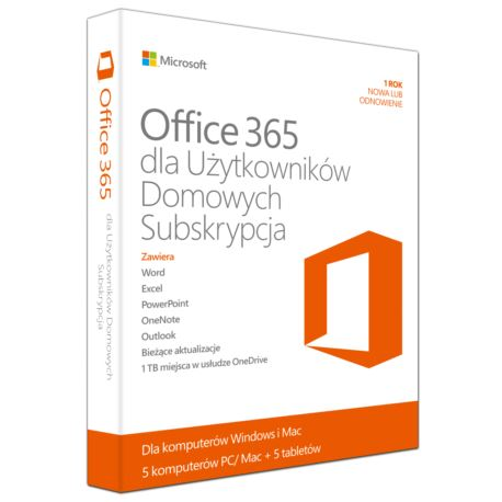 Microsoft Office 365 Home Premium Polish, 1 Year S